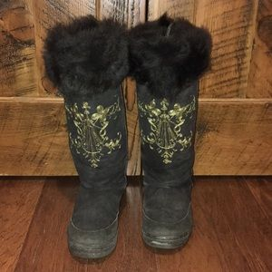 J Crew Alpine Embroidered Shearling Tall Boots